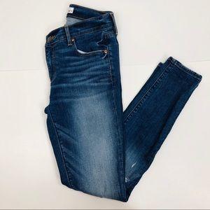 LOFT Blue Distress Skinny Jeans Size 2